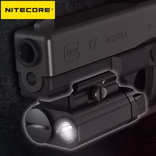 NITECORE NPL20 Flashlight CREE XP-G3 S3 LED 460Lumen Weapon Light 1xCR123A Tactical Outdoor Shoot Hu