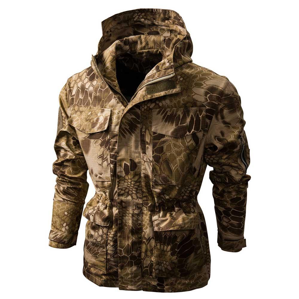 Куртка мужская камуфляжная с капюшоном, тактическая Водонепроницаемая ветровка, худи, уличная одежда