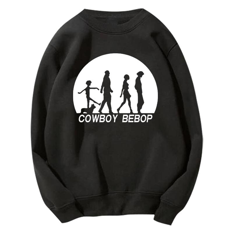 Homran, Spike de Cowboy Bebop Unisex de Anime, Spiegel, cuello redondo, Sudadera con capucha, Cowboy Bebop Faye Valentine Jet Black, chaqueta con capucha, abrigo