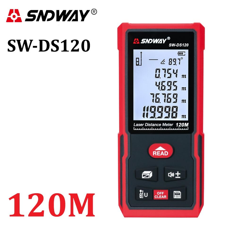 SNDWAY-telémetro láser electrónico, medidor de distancia Digital de ruleta, cinta de Trena...