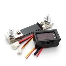 DC 0-100V 100A voltmètre numérique ampèremètre double affichage détecteur de tension courant compteur panneau ampèremètre 0.28