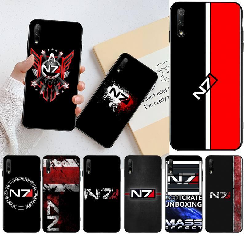 HPCHCJHM N7 Mass Effect negro TPU funda de teléfono de goma suave para Huawei Honor 30 20 10 9 8 8x 8c v30 Lite view pro