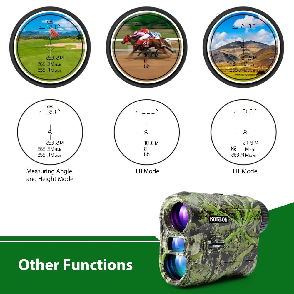 Boblov Telescope Laser Range Finder Digital Distance Meter Hunting Monocular Golf Rangefinder with Slope Roulette Tape Measure