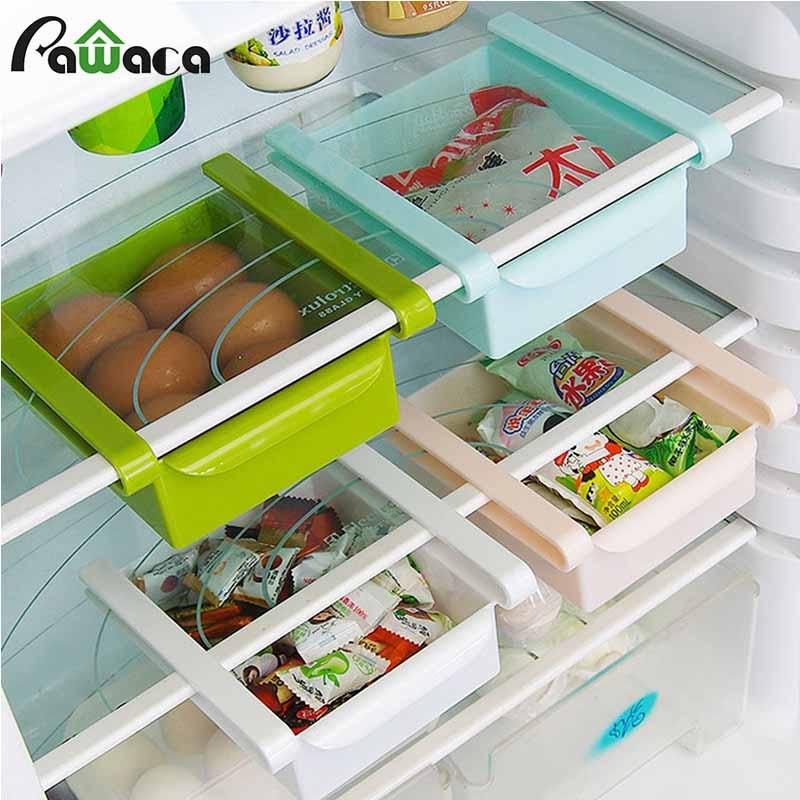 Étagère de rangement pour réfrigérateur   ABS, cuisine, réfrigérateur, rangement du réfrigérateur, congélateur, conteneur de nourriture, gain de place, organisateur de cuisine, planche suspendue