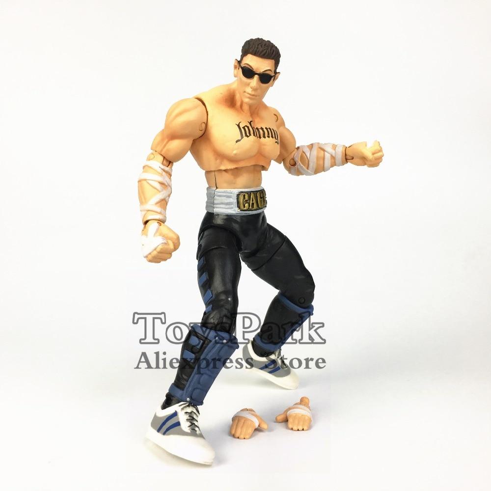 "RARE Jazwares Mortal Kombat 20TH Anniversary Scorpion Johnny Cage Sub Zero Raiden MK9 6"" Action Figure Collectible Toy Doll Gift"