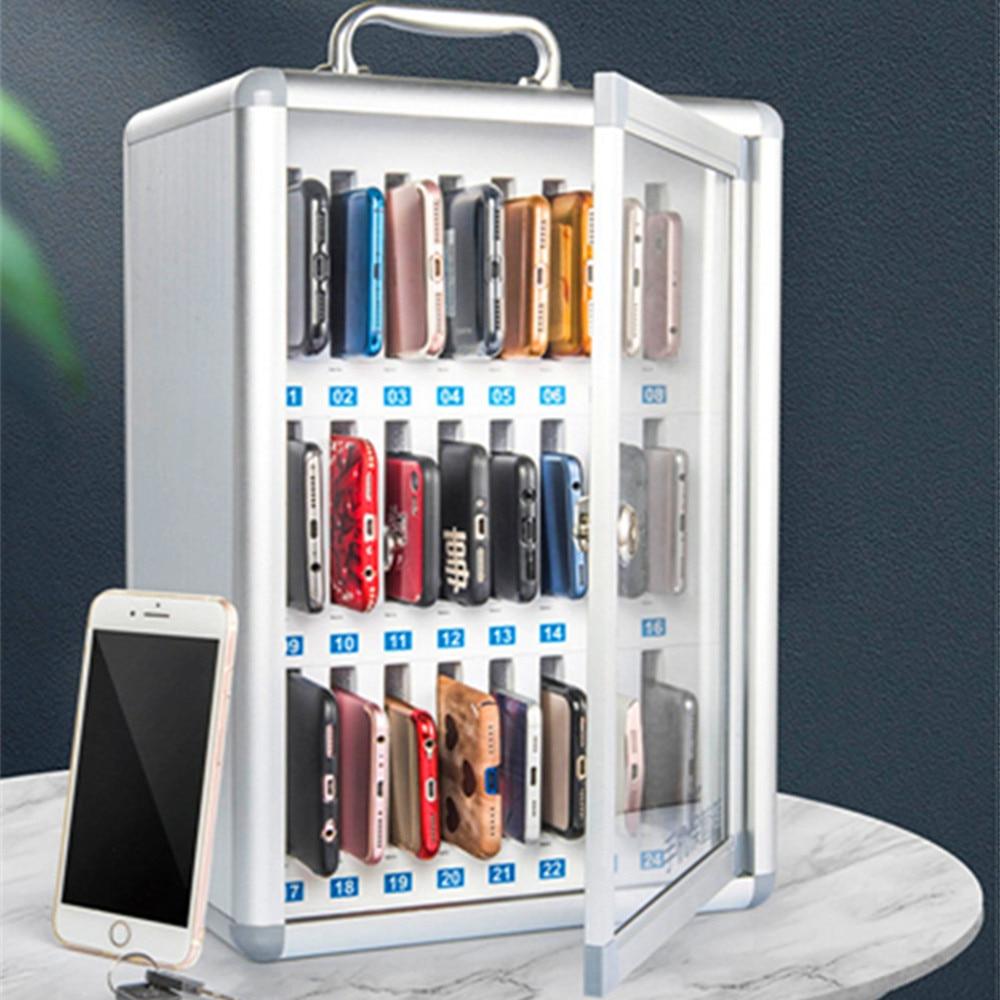 Сейф для мобильного телефона с замком из алюминиевого сплава ABS Портативный школьный армейский шкаф для хранения инструментов настенный че...