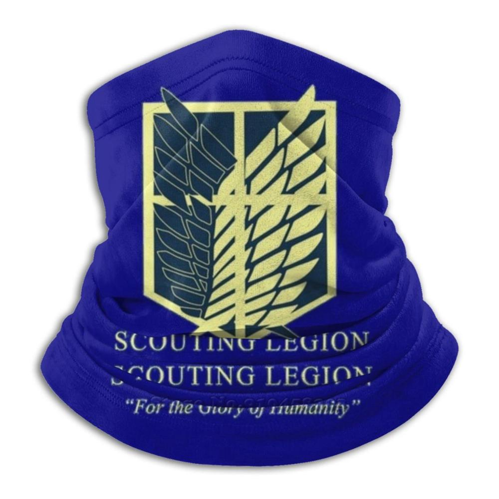 """Scouting Legion """" For The Glory Of Humanity """" Microfiber Neck Warmer Bandana Scarf Face Mask Attack On Titan Titan Anime"""