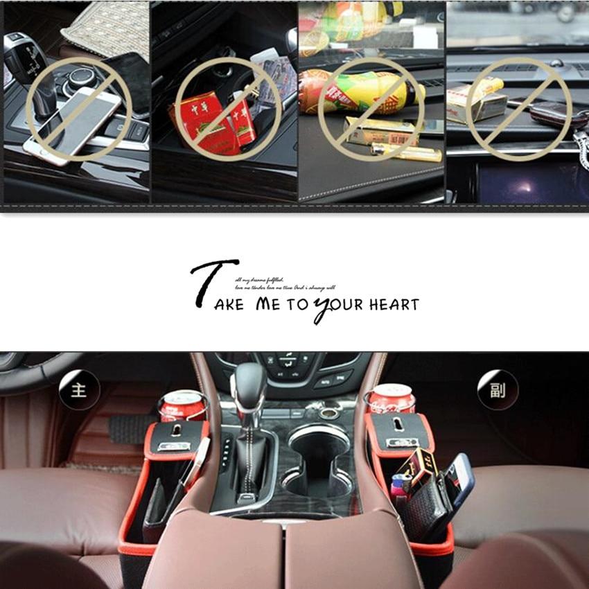 2020 nuevo organizador de coche para espacio de asiento PU caja de almacenamiento de bolsillo para superb 2 citroen c2 kia sportage 2011 ford s max focus mk3 opel