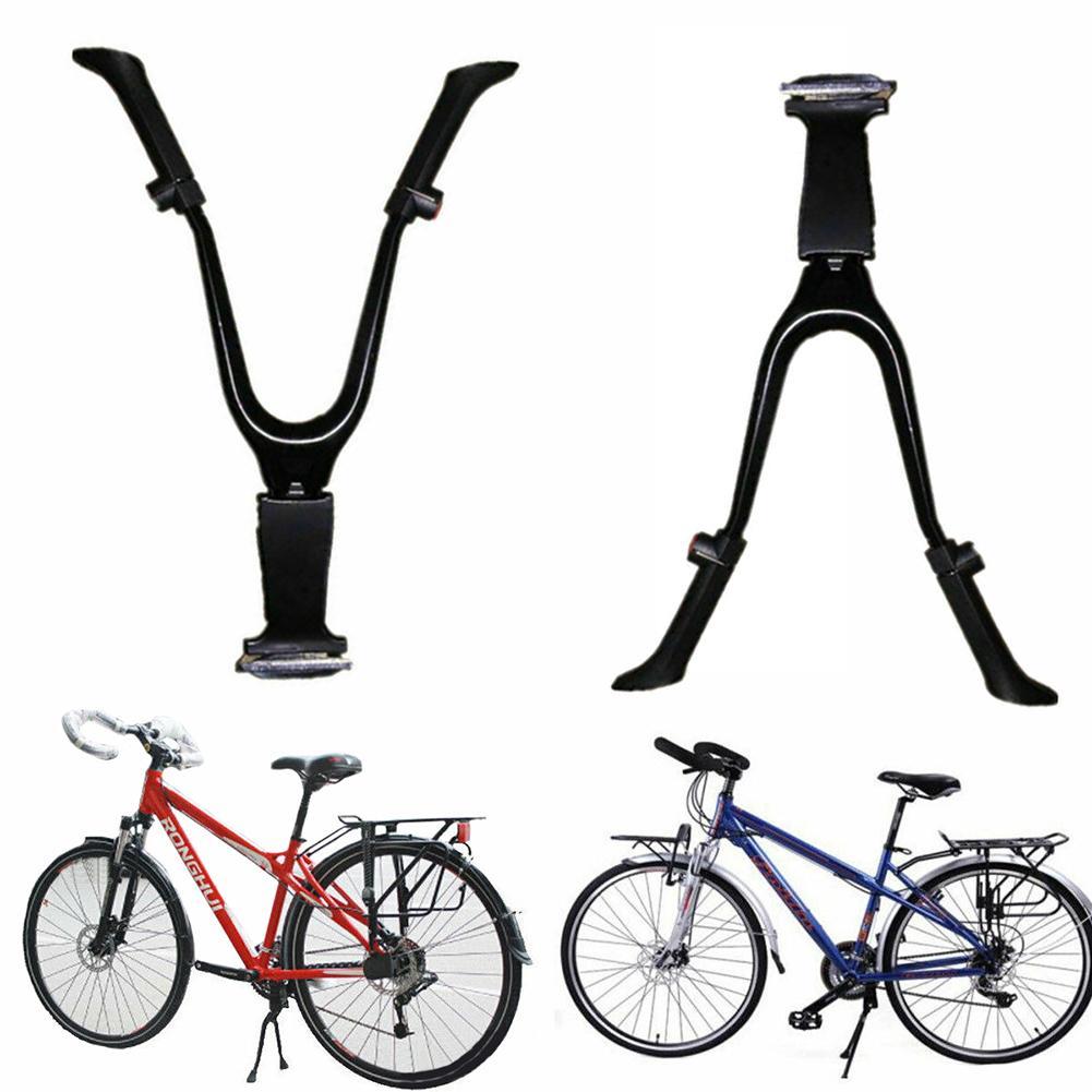 Регулируемая прочная двойная ножка для велосипеда MTB с центральным креплением подставка для Кика НОВАЯ шикарная
