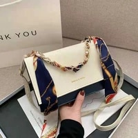 popular western style one shoulder handbags 2021 new trend fashion messenger bag womens silk scarf chain portable small square