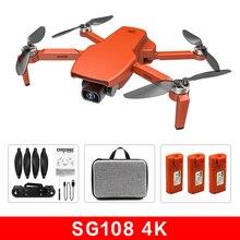 Oranje Zll SG108 Drone 4K Hd Camera 5G Wifi Gps Drone Brushles Motor Fpv Drone 25 Min 1km Smart Volgen Rc Quadcopter Speelgoed