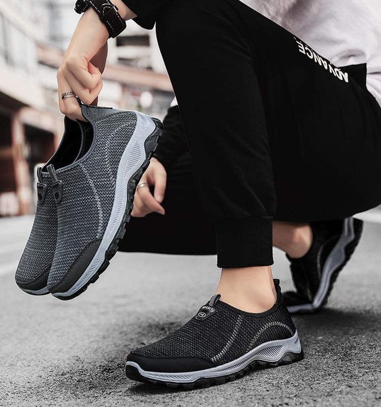 2021 Mesh Men Shoes Casual Summer Non-slip Sneakers Men Outdoor Walking Shoes Breathable Slipon Men
