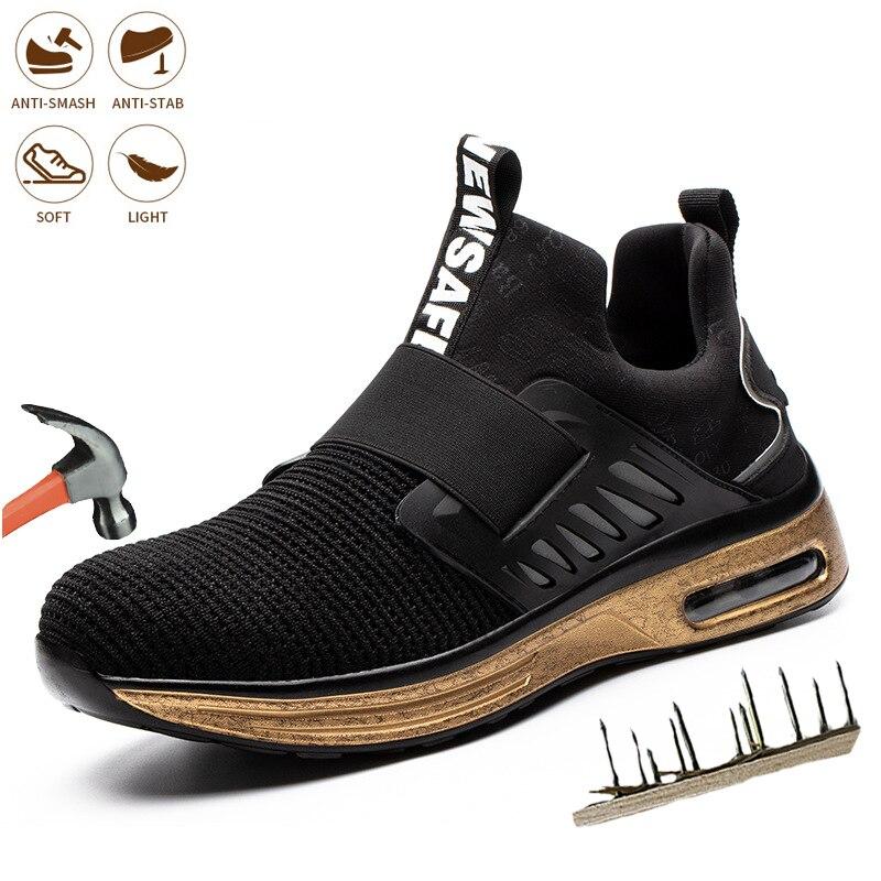 جديد الرجال موضة حذاء امن للعمل الصلب تو أحذية رياضية غير قابلة للتدمير المضادة للثقب مريحة حماية العمل العزل الأحذية