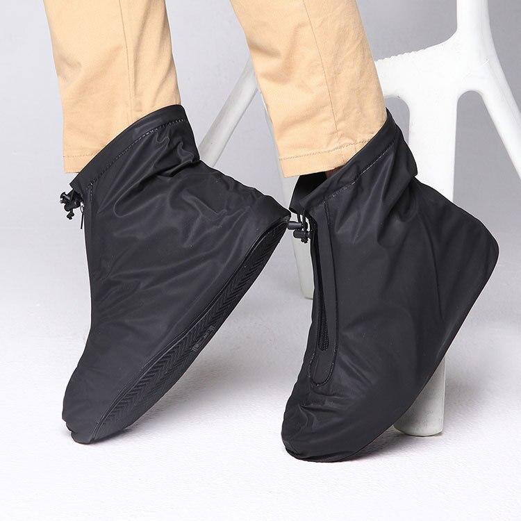 Fundas de zapatos para lluvia pisos botas de tobillo cubierta PVC reutilizable antideslizante para zapatos con capa impermeable interna 201