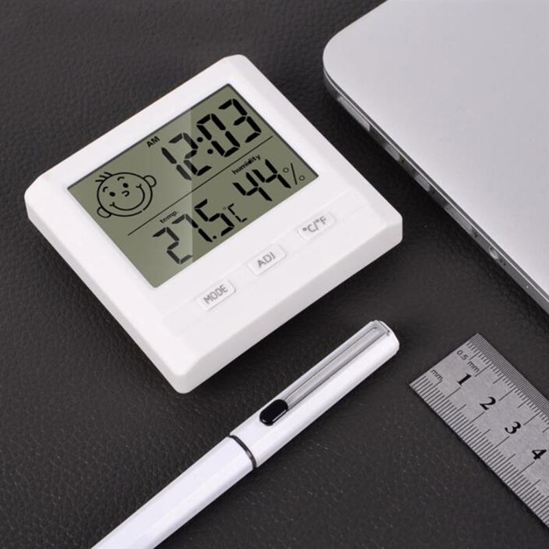 Digital Thermometer Hygrometer Indoor Temperature Humidity Outdoor Temperature Measurement for Home Office (without Battery) enlarge