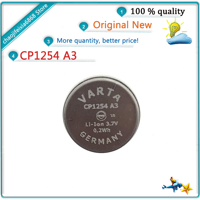 1pcs/lot! CP1254 A3 High capacity A3 rechargeable 60mah lithium battery CP1254 3.7v For TWS bluetooth headphone NEW ORIGINAL