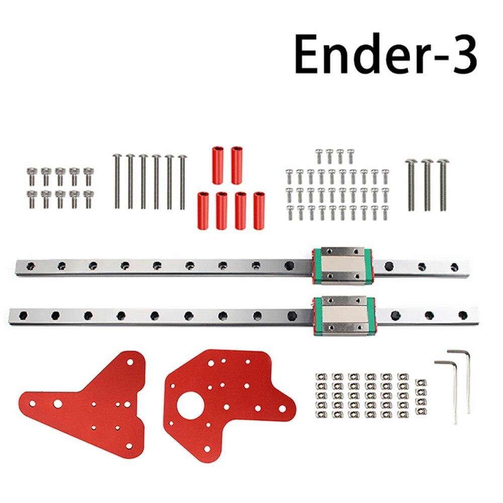 1 Set المزدوج Z محور القضبان الخطية مع عدة اللوحة الخلفية ل Ender-3/3S/برو/CR-10 V2 ثلاثية الأبعاد ملحقات الطابعة