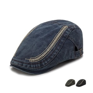 Adjustable Men Spring Summer Sun Newsboy Hats Classic Western Newsboy Caps Cotton Blend Beret Flat Brim Dropshipping