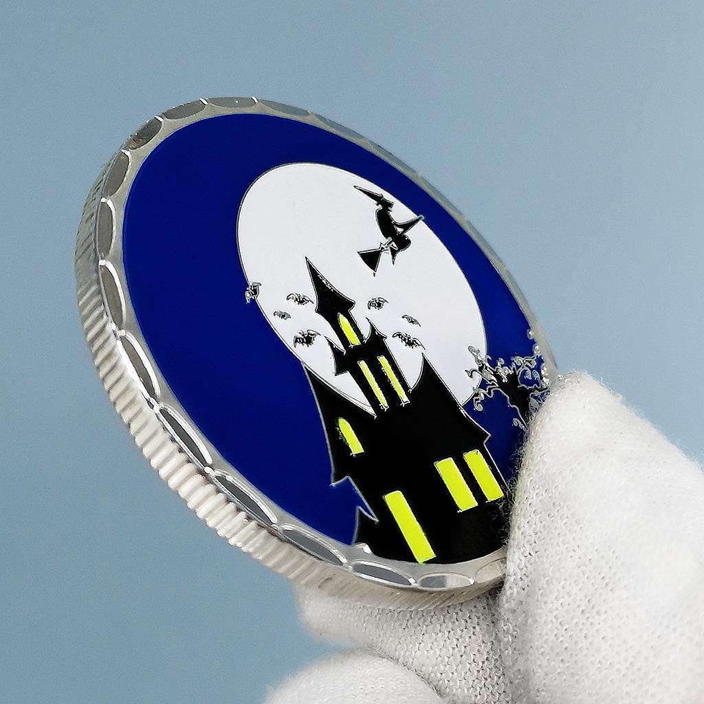 Счастливый Хэллоуин маленькие подарки таинственный цвет серебряные украшения монеты детские игровые подарки Детские сувениры