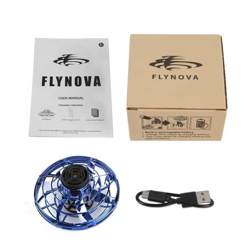 flynova Athletic game toy antistress hand mini flying Gyro rotator drone UFO led fidget finger spinner Route Rotary child gift enlarge