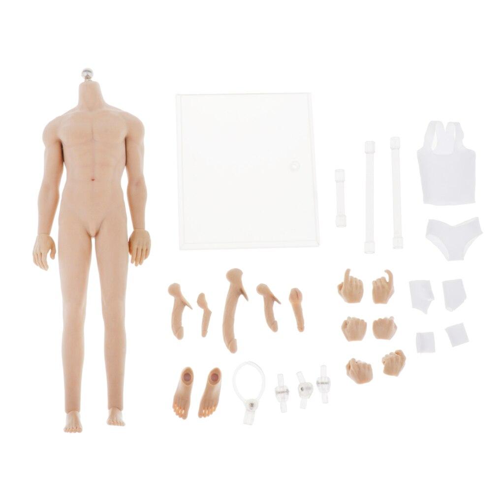 16 cuerpo masculino súper Flexible sin costuras con pies de mano para JO-K10A juguetes calientes
