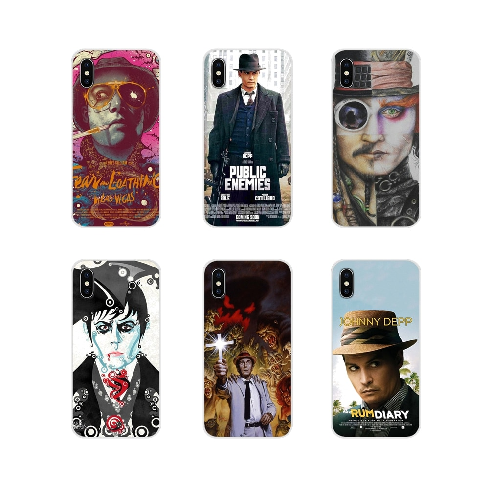 Soft Transparent Cover For Apple iPhone X XR XS 11Pro MAX 4S 5S 5C SE 6S 7 8 Plus ipod touch 5 6 Johnny Depp Movie fanart poster