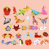 2021 54 Pages Montessori Toys DIY Kids Craft Toy 3D Cartoon Origami Handcraft Paper Art Learning Educational Toys For Children