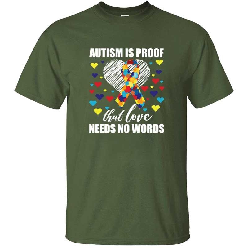 Camiseta del día de Concientización del autismo, camiseta de apoyo para niños, Camiseta de punto 2020 para hombres, Camiseta de cuello redondo, camisetas masculinas para mujeres