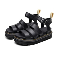 2021 Genuine Leather Summer Ladies Sandals Martens for Women Shoes Comfy Soft Women Sandals Wedge Lo