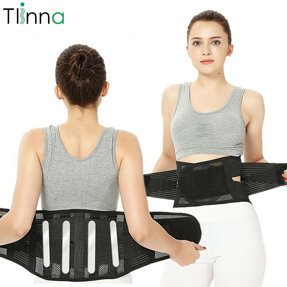 Men Women Adjustable Waist Trainer Magnetic Belt Lower Back Brace Spine Support Waist Belt Orthopedi