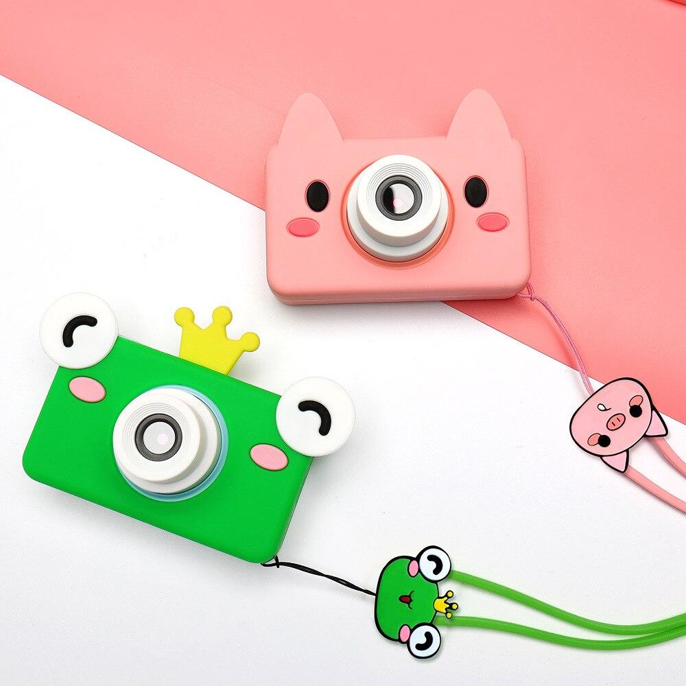 أطفال ألعاب كاميرا كاميرا رقمية HD 32 جيجابايت بطاقة الذاكرة وشملت الكرتون الحيوان ألعاب تعليمية للأطفال هدية عيد ميلاد صبي فتاة