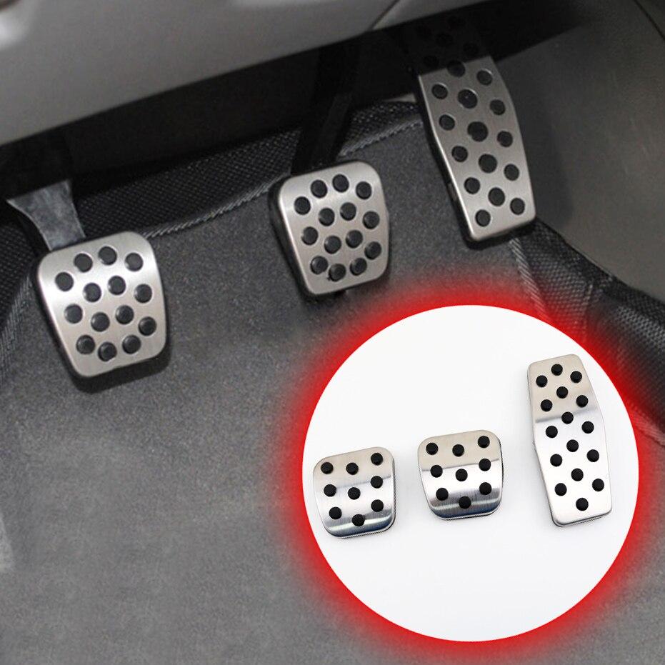 Non-slip Pad Fit For Chevrolet Malibu Cruze 2013-2016 Accessories Foot Brake Clutch Gas Fuel Pedal Cover Part MT Model Trim