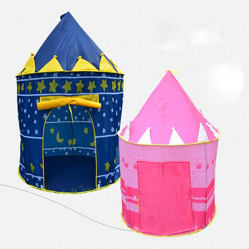 Палатка складная детская, портативная палатка принцессы, замок, игровой домик, уличная игрушка, подарок для детей палатка tramp lite twister 3