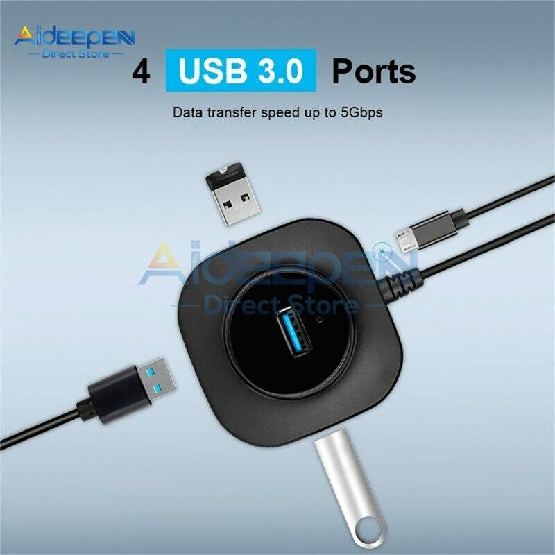 USB 3,0 Hub USB 2,0 Multi adaptador/divisor USB de 4 puertos velocidad Mini múltiples 3 Hab usb3.0 HUB Puerto USB-Hub expansor para PC portátil