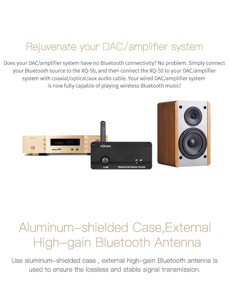 XDUOO XQ-50 Buletooth 5.0 Audio Receiver Converter PC USB DAC ES9018K2M Chip support aptX/SBC/AAC XQ50  DAC/AMP enlarge