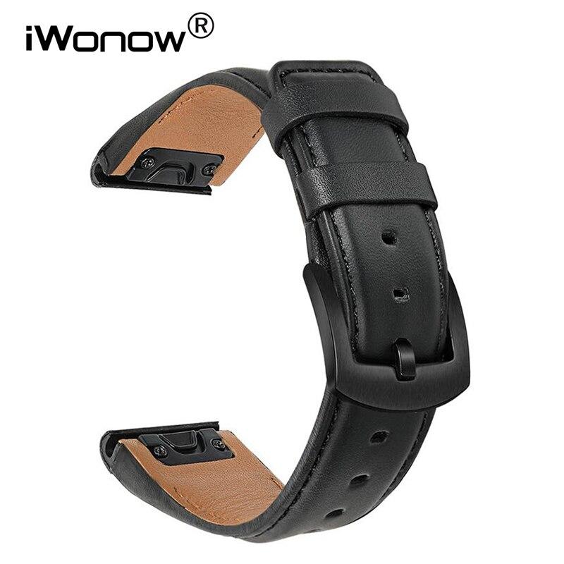 Quick Fit Кожаный ремешок для часов 22 мм для наручных часов Garmin Fenix 6/6 Pro / 6 сапфир/5/ 5 Plus/ Forerunner 945 935 / S60 S62 планки вахты диапазона