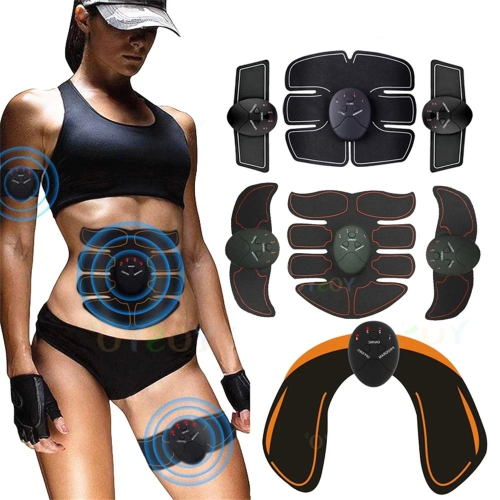 EMS Hip Wireless Muscle Stimulator Butt Trainer ABS Gel Pads Smart Fitness Abdominal Gel Patch Weigh