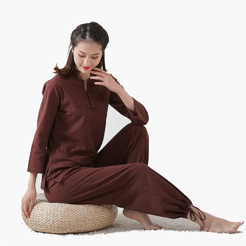 Униформа для взрослых из хлопка и льна, высококачественная одежда кунг фу из ушу для женщин и мужчин, костюм Чун для боевых искусств|Наборы| | АлиЭкспресс