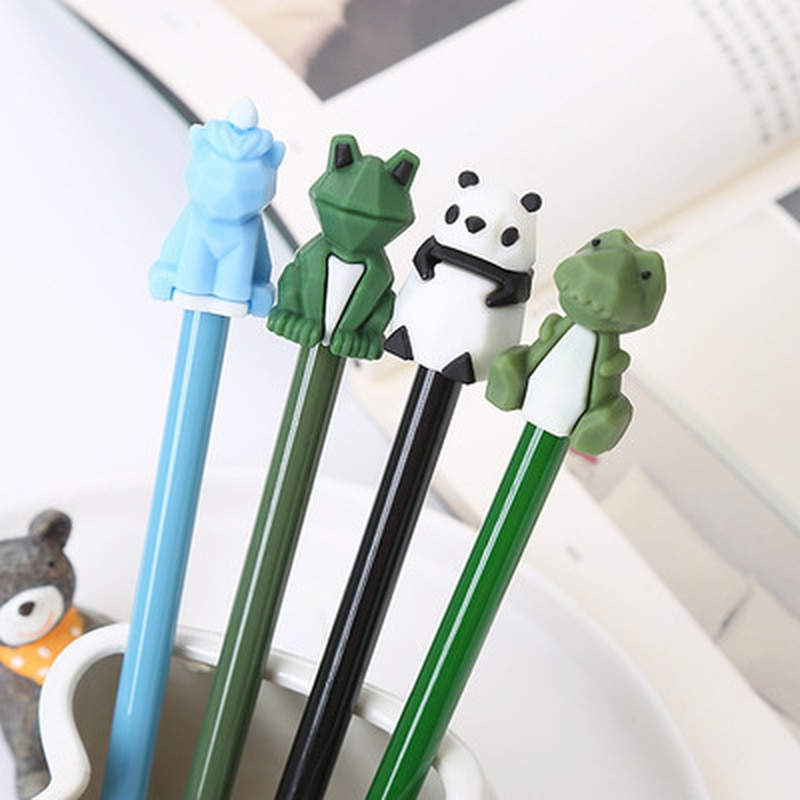 cute cat rabbit gel pens set kawaii stationery gel ink pens for kids gifts writing pen stationery caneta escolar school supplies Dinosaur Gel Pen Cartoon Student Stationery Cute Pen Kawaii Stationery Gel Pens New Black Ink Kawaii Pens School Office Supplies