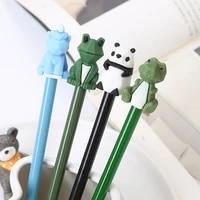 dinosaur gel pen cartoon student stationery cute pen kawaii stationery gel pens new black ink kawaii pens school office supplies