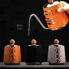 الفولاذ المقاوم للصدأ Handleless مكافحة الساخن إبريق قهوة غلاية تعمل بالتنقيط 0.3L/0.5L صانع القهوة مع Gooseneck صنبور إبريق لإعداد الشاي والقهوة
