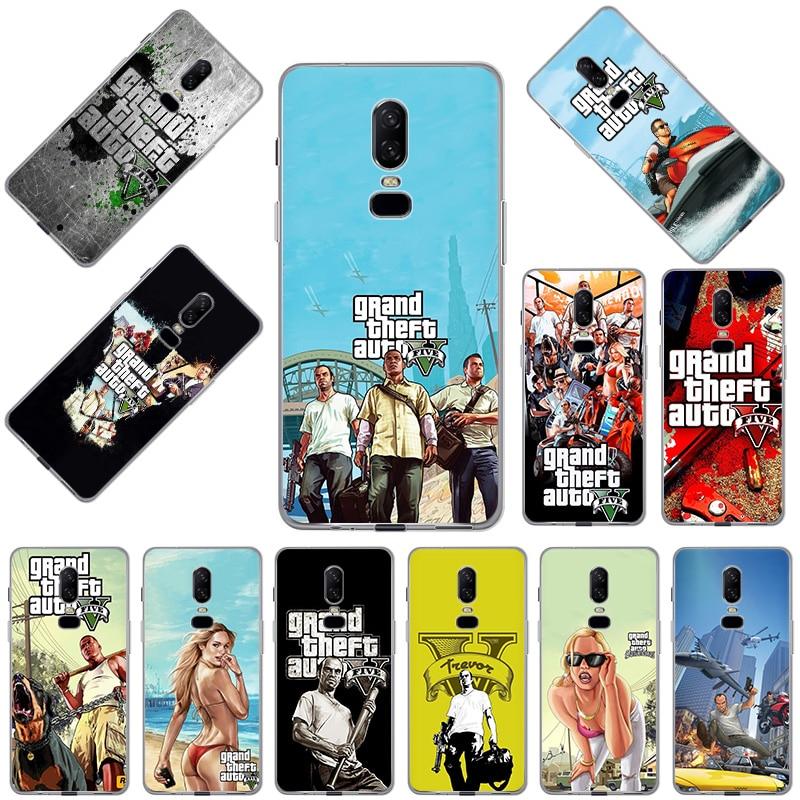 Phone Case for OnePlus 9 9R 8 8T 7 7T Pro Nord N10 N100 5G Xiaomi Redmi 6 6A Mi CC9 CC9E Grand Theft Auto GTA Soft Cases Cover