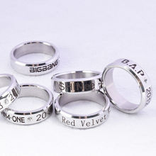 Bague KPOP veut un bloc brillant BAP. b Vixx Astro Straykids bagues Bigbang anneau bijoux
