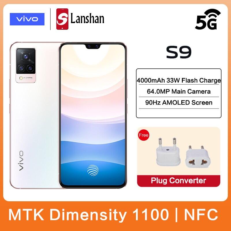 Оригинальный vivo S9 Сотовая связь двойной 5G MTK Dimensity 1100 NFC 33 Вт зарядки 64MP основной Камера 90 Гц Частота обновления активно-матричные осид, для мо...