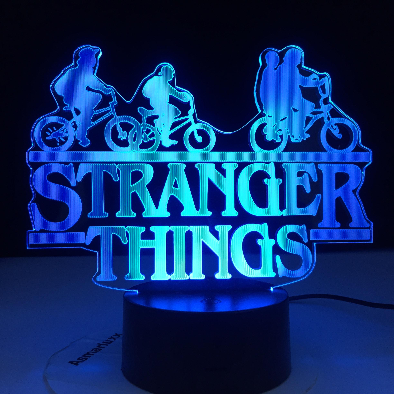 Stranger Things American Web TV Series Led Night Light 7 Colors Changing Touch Sensor Bedroom Nightlight Table Lamp Best Gift