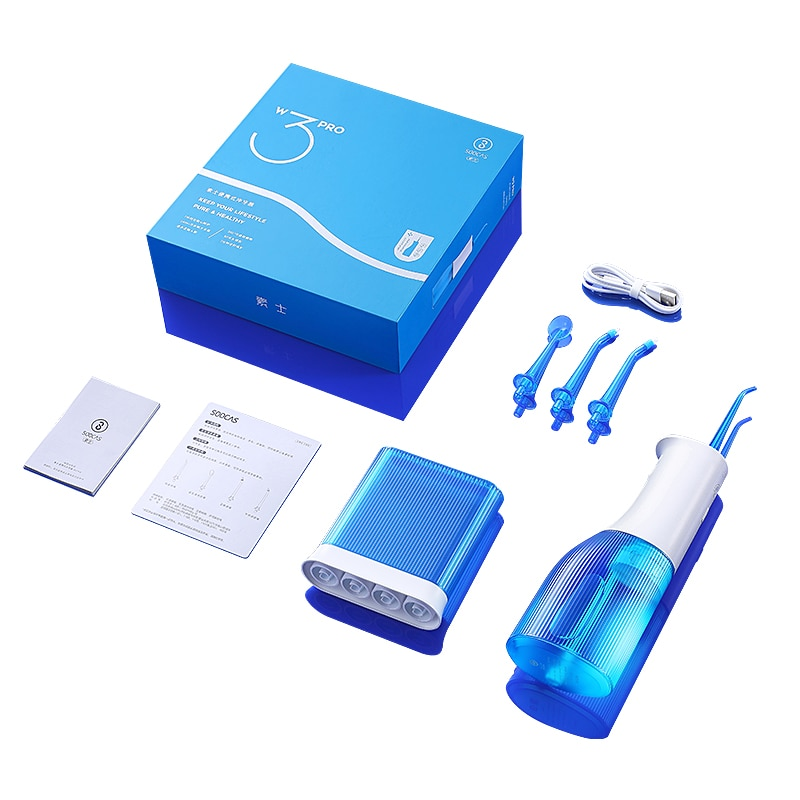 Soocas W3 Pro Portable Oral Irrigator Rechargeable Waterproof Toothpick Oral Cleaning Tooth Whitening 360 Degree Rotary Nozzl enlarge