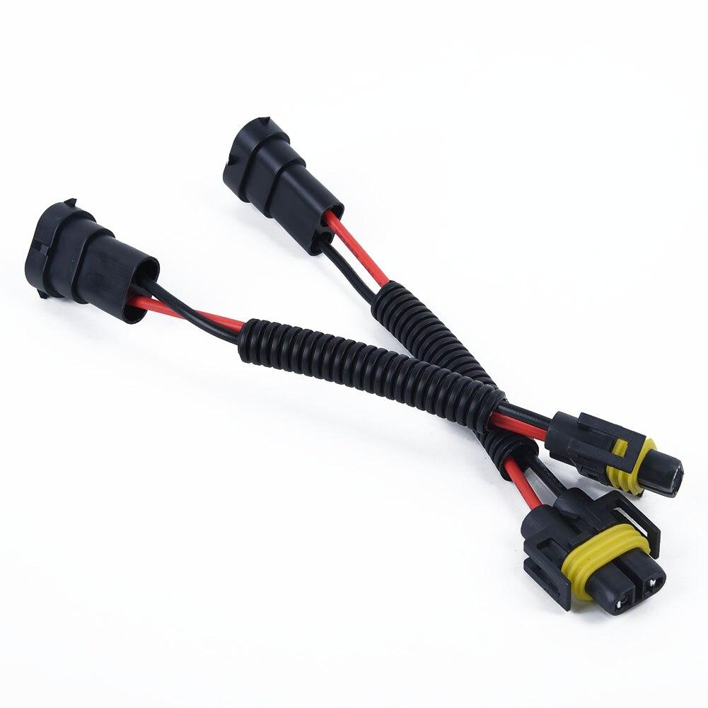 Mazo de cables con conectores cableado adaptador macho hembra H11 H8 H9 Kit de faros antiniebla