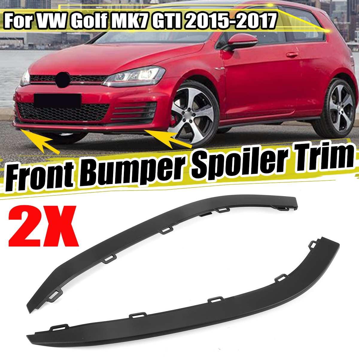 2 piezas parachoques delantero de coche labio inferior alerón Deflector de aire moldura para VW para Golf MK7 GTI 2015-2017 5GG8059039B9 5GG8059049B9
