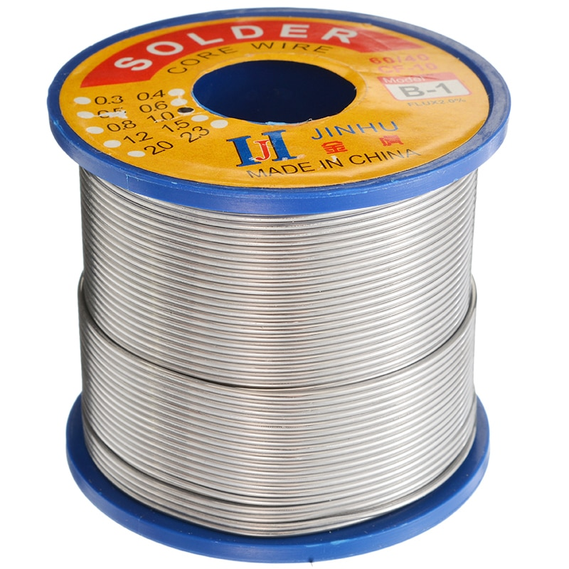 1Pcs 60/40 Tin lead Solder Wire 1.0mm Rosin Core Soldering Roll 2% Flux Reel Solder Soldering Wire 400g Welding Line