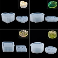 liquid silicone mold storage gift box for jewelry making bowknot heart shape mould diy crystal epoxy resin jewelry tool moulds